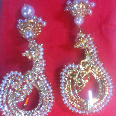 Beautiful big earrings
