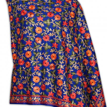 blue stole with flowers