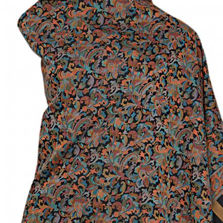 black kani shawl front