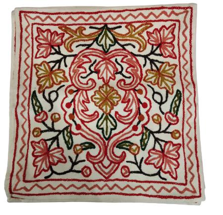white cushion red thread